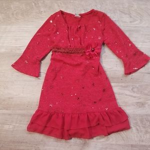 Dollie & Me | Girl's Red Sparkly Dress